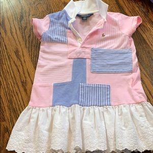 Ralph Lauren Pink Patchwork Dress 2T
